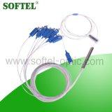 Fibra Óptica Splitter PLC Splitter FTTH Óptica Splitter con Sc / FC / Conector LC
