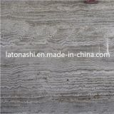 Flooring、Backsplash、Paverのための自然なSilver Grey Stone Travertine Tile