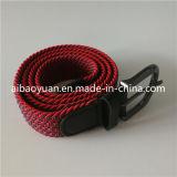 方法女性のElgantの赤いファブリック伸縮性がある編みこみのベルト