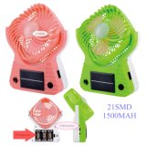 Lámpara solar recargable del ventilador del LED, lámpara portable del ventilador