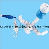Máscara de oxígeno médica del No-Respiradero de la marca de fábrica de Ht-0451 Hiprove con el bolso del depósito