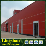 Estructura de acero del metal del almacén prefabricado de alta resistencia de la estructura