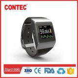 Cms50k de Zwarte Slimme Monitor ECG van het Tarief van /ECG/Heart van het Horloge SpO2 Draadloze