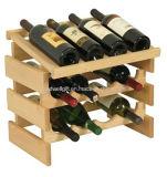 Una cremagliera dei 12 vini con il supporto del vino di riga del quadrato della parte superiore della visualizzazione