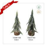 decoração artificial do Natal da árvore de Natal da venda quente de 28cm com gelo