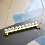 Het imitatie Kristal van de gouden-Kleur van de Gift van de Halsband van de Nauwsluitende halsketting van de Parel Beste