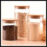 Установите бачок для хранения из прозрачного стекла для хранения зерновых культур