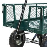 Fontes de serviço público resistentes de aço do carro de jardim do gramado da jarda do vagão