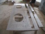 Bancadas pré-fabricadas cinzentas do granito G603 de Bianco para a cozinha
