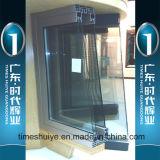 Porta deslizante de alumínio de vidro de camada dupla de estilo simples para moradia