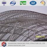 Edificio de la estructura de acero para el gimnasio