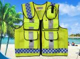 Veste dos homens reflexivos feitos sob encomenda por atacado da roupa do tráfego da segurança da boa qualidade com bolsos