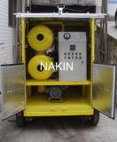 Tipo doppi sistema del rimorchio del purificatore di olio del trasformatore di vuoto delle fasi/riciclaggio mobili dell'olio