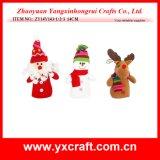 Decoração de Natal (ZY14Y289-1-2-3-4) Tecido de algodão poli de Natal vermelho