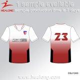 Healong Spitzenverkaufs-Team-Abnützung-Funktionseigenschaft-Sublimation-Drucken-T-Shirt