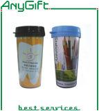 Copo de café plástico com logotipo personalizado