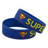 Il braccialetto del silicone con stampa di seta incide il marchio