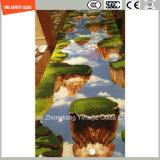Impression de Silkscreen de peinture de la qualité 3-19mm Digitals/gravure à l'eau forte acide/sûreté givré/configuration gâchée/verre trempé pour le mur/partition d'hôtel avec SGCC/Ce&CCC&ISO