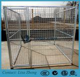 La Jaula de perro de servicio pesado con el galvanizado en caliente