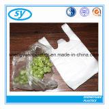 Sac à provisions en plastique estampé personnalisé de T-shirt pour des mémoires utilisées