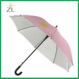 Зонтик гуляя ручки рамки стеклоткани Staight пинка Rose самый дешевый автоматический черный для таможни