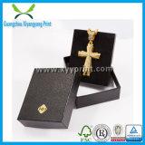 ロゴの優雅なカスタムBalckカラーペーパー宝石類のネックレスボックス