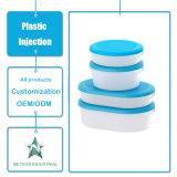 주문을 받아서 만들어진 플라스틱 주입 형 제품 식기 투명한 보존하는 상자 플라스틱 음식 콘테이너