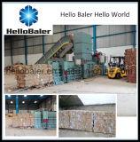Prensa horizontal para o papel Waste com o transporte para a venda