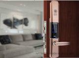 Сползите замок двери фингерпринта крышки с ключом (V-FP6160-HB)
