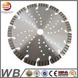 A circular soldada laser do diamante viu a lâmina para o concreto