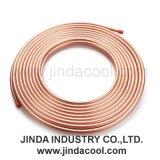 O tubo de cobre do tubo de cobre no ar condicionado