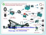 기계를 재생하는 300~1000kg/Hour 폐기물 사용된 타이어