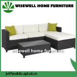 Mobiliario seccional al aire libre PE sofá de mimbre de ratán (WXH-036)