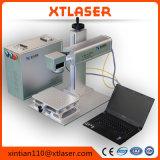Машина маркировки лазера волокна Jinan с роторной таблицей 20W