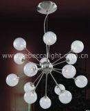 Bille de verre décoratif à l'intérieur Poignée de commande de l'éclairage halogène