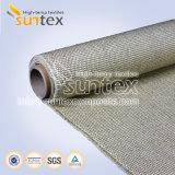 800 C de la vermiculite en fibre de verre recouvert de tissus pour le soudage de barrières de protection et la veste d'isolation thermique du tuyau