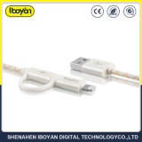 2 em 1 Telefone Celular de carga do cabo de dados USB