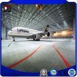 Hangar de los aviones del aeroplano de la estructura de acero de los edificios del metal