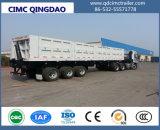 50 톤은 3개의 차축 트레일러 덤프 팁 주는 사람 트럭 반 편든다
