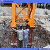 Grue à tour de Qtz80 5513 6tons Topkit pour la construction de construction