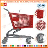 Вагонетка покупкы крома формы дуги супермаркета (Zht50)