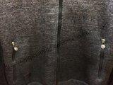 Man Dark Gery Roupa de casaco esportivo com capa e corda Fw-8714