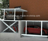Inground carro elevador de tesoura duplo deck duplo