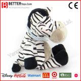 Stuk speelgoed van de Knuffel van de douane vulde het Zachte de Dierlijke Zebra van de Pluche voor Jonge geitjes/Kinderen