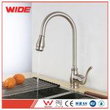 Дешевый Faucet кухни почистил никель щеткой вытягивает вне одиночную ручку на сбывании