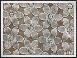 花のテュルが付いている多刺繍のレース