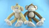 Séance d'animaux des jouets en peluche singe