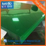 strato di plastica colorato trasparente verde del PVC di 0.3mm Matt per i coperchi leganti
