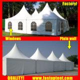 Tenda bianca del Pagoda dell'alto picco del PVC dell'alluminio per l'ospite di Seater delle 50 genti