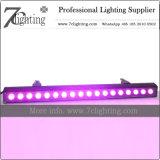 iluminação UV do casamento da arruela da parede do diodo emissor de luz da barra RGBWA do diodo emissor de luz 18*18W